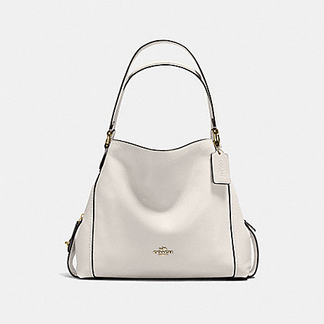 COACH f57125 EDIE SHOULDER BAG 31 CHALK/LIGHT GOLD