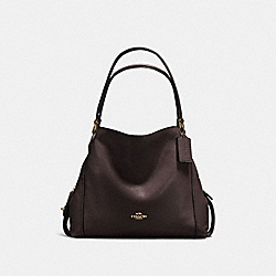 COACH F57125 Edie Shoulder Bag 31 CHESTNUT/LIGHT GOLD
