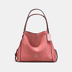 COACH F57125 Edie Shoulder Bag 31 SV/BRIGHT CORAL