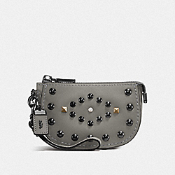 COACH F57184 - POUCH WITH WESTERN RIVETS BP/HEATHER GREY
