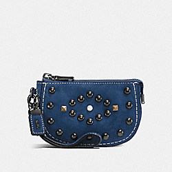 COACH F57194 - POUCH WITH WESTERN RIVETS BP/DENIM