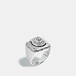COACH CHAMPIONSHIP RING - f57195 - SILVER/CLEAR