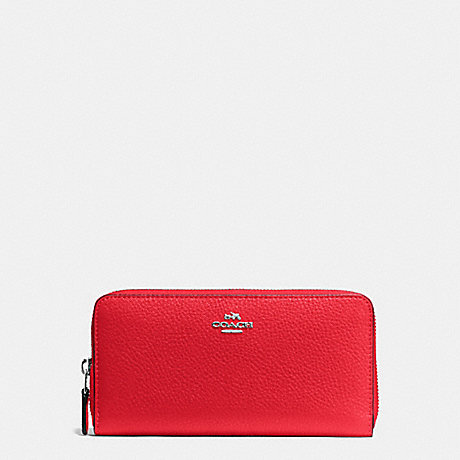 Wallets - Accordion Pebbled Zip Wallet Cherry - red - Wallets for ladies Coach DIbZJCHg
