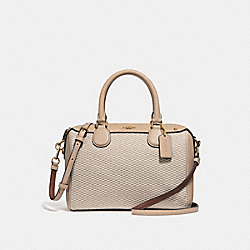 COACH MINI BENNETT SATCHEL - MILK/BEECHWOOD/LIGHT GOLD - F57242