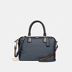 COACH MINI BENNETT SATCHEL - BLUE/MULTI/LIGHT GOLD - F57242