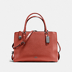 COACH F57276 - BROOKLYN CARRYALL 34 TERRACOTTA/DARK GUNMETAL