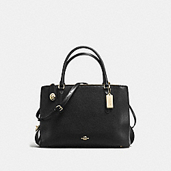 COACH F57276 - BROOKLYN CARRYALL 34 BLACK/LIGHT GOLD