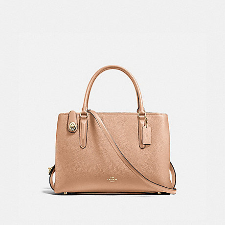 COACH F57276 BROOKLYN CARRYALL 34 BEECHWOOD/LIGHT-GOLD