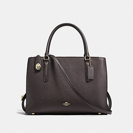 COACH f57276 BROOKLYN CARRYALL 34 LIGHT GOLD/CHESTNUT