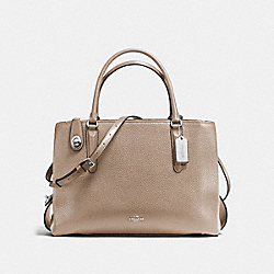 COACH F57276 - BROOKLYN CARRYALL 34 SILVER/STONE