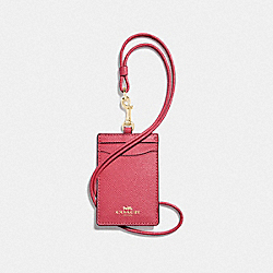 COACH F57311 Id Lanyard PINK RUBY/GOLD