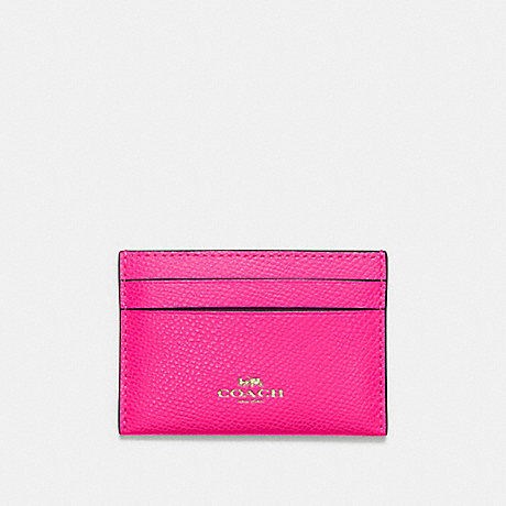 COACH F57312 CARD CASE PINK RUBY/GOLD
