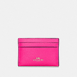 COACH F57312 - CARD CASE PINK RUBY/GOLD
