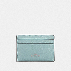 COACH F57312 Card Case SEAFOAM/SILVER
