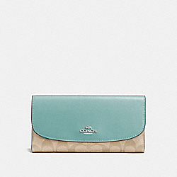 COACH F57319 Checkbook Wallet In Signature Canvas SVNKA
