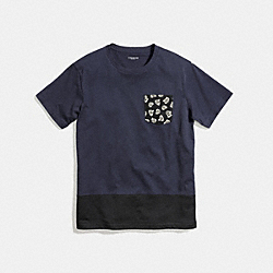 COACH MIXED MASCULINE ROSE T-SHIRT - MIDNIGHT - F57341