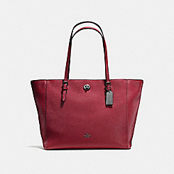 COACH F57443 - TURNLOCK TOTE CHERRY/DARK GUNMETAL