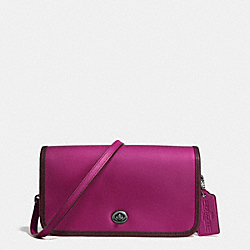COACH F57460 75th Anniversary Penny Crossbody In Glovetanned Calf Leather BLACK ANTIQUE NICKEL/OXBLOOD 1/FUSCHIA