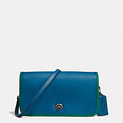 75TH ANNIVERSARY PENNY CROSSBODY IN GLOVETANNED CALF LEATHER - f57460 - BLACK ANTIQUE NICKEL/DENIM ATLANTIC