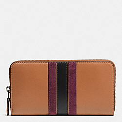 COACH F57463 75th Anniversary Accordion Zip Wallet In Glovetanned Calf Leather BLACK ANTIQUE NICKEL/SADDLE/OXBLOOD 1 MULTI