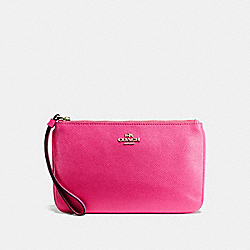 COACH F57465 Large Wristlet PINK RUBY/GOLD