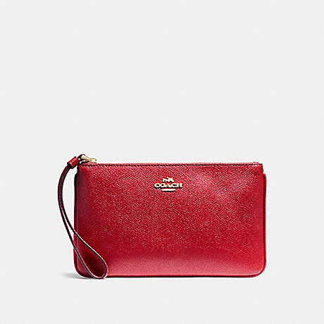 COACH F57465 LARGE WRISTLET TRUE-RED/LIGHT-GOLD