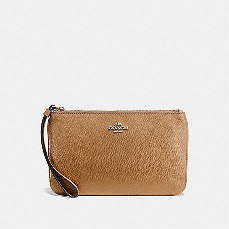 COACH F57465 LARGE WRISTLET LIGHT-SADDLE/LIGHT-GOLD