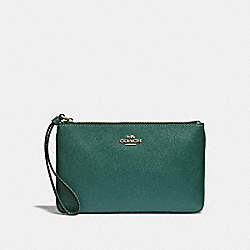 COACH F57465 - LARGE WRISTLET DARK TURQUOISE/LIGHT GOLD