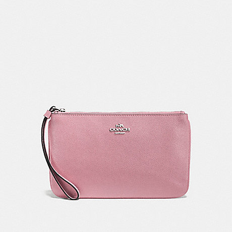 COACH F57465 LARGE WRISTLET DUSTY-ROSE/SILVER