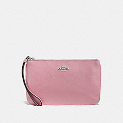 COACH F57465 Large Wristlet SILVER/DUSTY ROSE