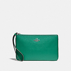 COACH F57465 Large Wristlet GREEN/SILVER