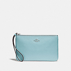 COACH F57465 Large Wristlet CLOUD/SILVER