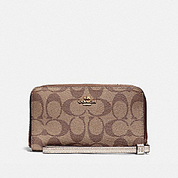 COACH F57468 Phone Wallet LIGHT GOLD/KHAKI