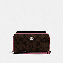 COACH F57468 Phone Wallet LIGHT GOLD/BROWN ROUGE