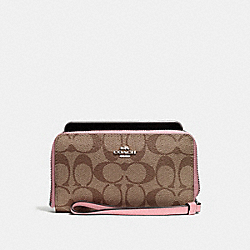 COACH F57468 Phone Wallet SILVER/KHAKI BLUSH 2