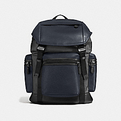 COACH F57477 - TERRAIN TREK PACK IN PERFORATED MIXED MATERIALS MIDNIGHT NAVY/GRAPHITE