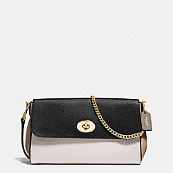 COACH RUBY CROSSBODY IN GEOMETRIC COLORBLOCK CROSSGRAIN LEATHER - IMITATION GOLD/CHALK FOG MULTI - F57501
