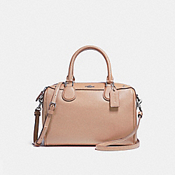 MINI BENNETT SATCHEL - f57521 - LIGHT GOLD/NUDE PINK