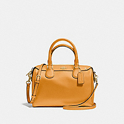 MINI BENNETT SATCHEL - f57521 - GOLDENROD/light gold