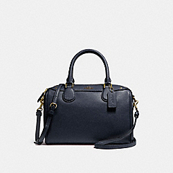 MINI BENNETT SATCHEL IN CROSSGRAIN LEATHER - f57521 - LIGHT GOLD/MIDNIGHT