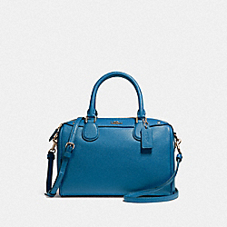 MINI BENNETT SATCHEL - F57521 - INK BLUE/GOLD