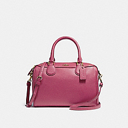 MINI BENNETT SATCHEL - f57521 - LIGHT GOLD/ROUGE