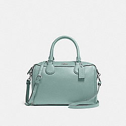 COACH F57521 Mini Bennett Satchel SILVER/AQUAMARINE
