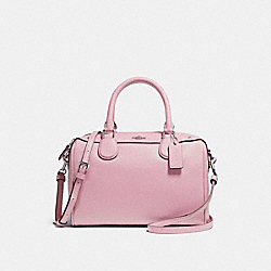 COACH F57521 Mini Bennett Satchel SILVER/BLUSH 2
