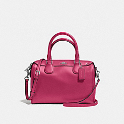 MINI BENNETT SATCHEL - f57521 - SILVER/HOT PINK