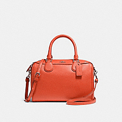 COACH F57521 - MINI BENNETT SATCHEL ORANGE RED/SILVER