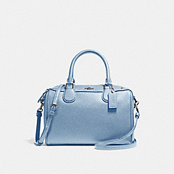 MINI BENNETT SATCHEL - f57521 - SILVER/POOL