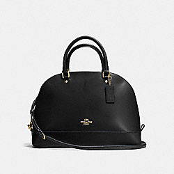 SIERRA SATCHEL - f57524 - BLACK/IMITATION GOLD