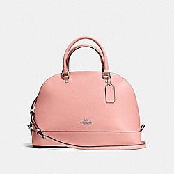SIERRA SATCHEL IN CROSSGRAIN LEATHER - f57524 - SILVER/BLUSH