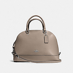 SIERRA SATCHEL IN CROSSGRAIN LEATHER - f57524 - SILVER/FOG
